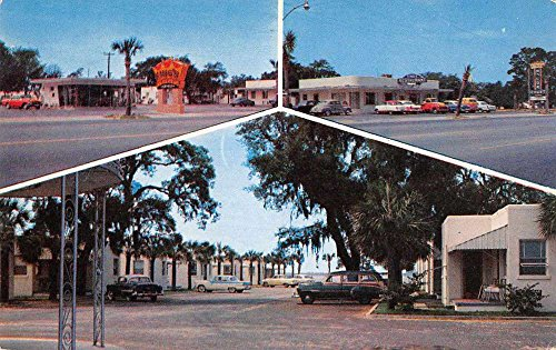 Panama City Florida King's Motor Court Multiview Vintage Postcard - In Stores City Florida Panama