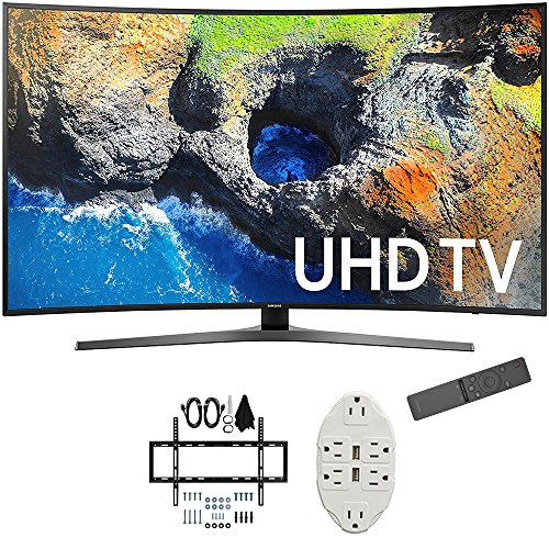 "Samsung 54.6"" Curved 4K Ultra HD Smart LED TV 2017 Model  wi"