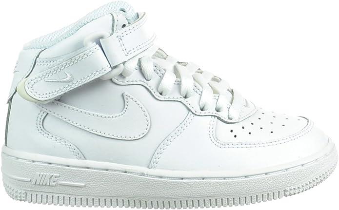 Nike Air Force 1 Mid (PS) Preschool Kids' Shoes White White