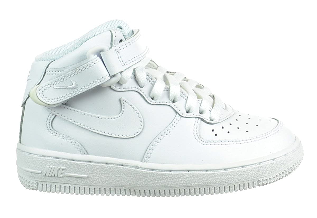 0b613c1c Amazon.com | Nike Air Force 1 Mid (PS) Preschool Kids' Shoes White ...