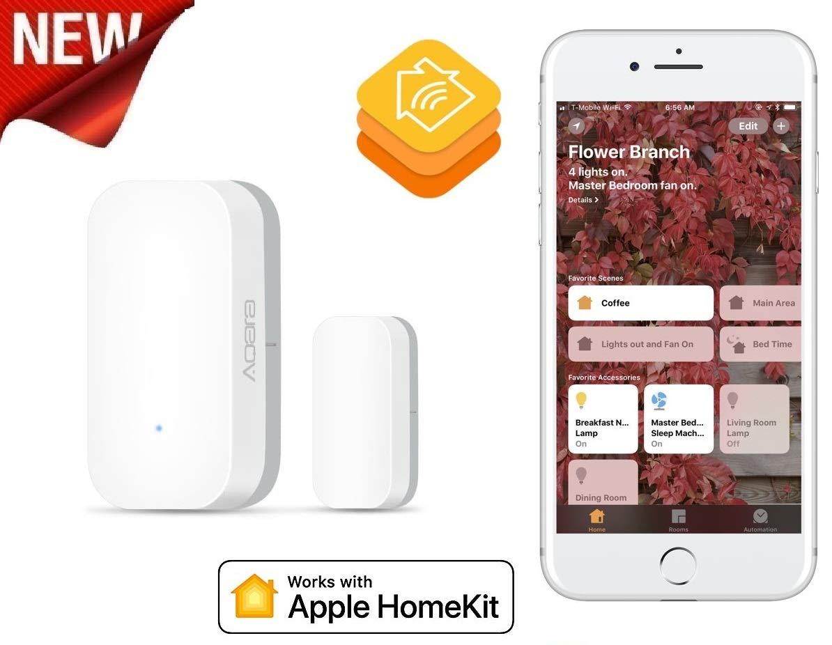 blanco Apple HomeKit Bluetooth Low Energy non occorrono bridge o gateway Sensor inal/ámbrico de contacto Eve Door /& Window