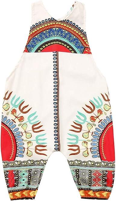 Julhold - Pelele de algodón sin mangas con estampado africano para bebé, de 0 a 4 años: Amazon.es: Ropa y accesorios