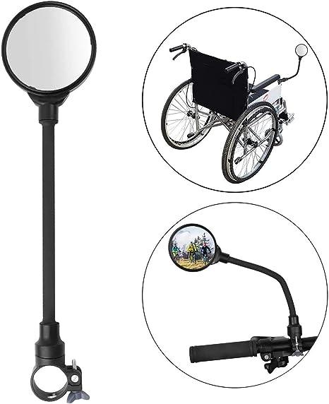 SOULBEST Specchietti Bici 360 /° Rotazione Regolabile Retrovisore da Bicicletta,Ciclismo Equitazione Specchietto per Motorino Mountain Bike Scooter Elettrico Bicicletta per Bambini Sedia a rotelle
