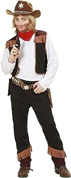 Widmann 02596 - Disfraz de vaquero para niño (talla 128): Amazon ...