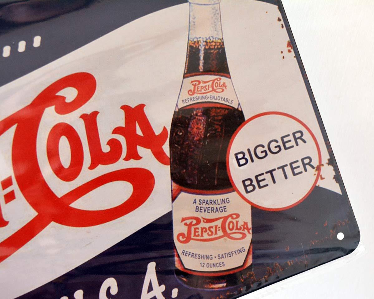 Retro Vintage Pepsi Cola A Big O.K. de EE. UU. Pin Up Tin ...