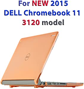 """Orange iPearl mCover Hard Shell Case for 11.6"""" Dell Chromebook 11 3120 series Laptop released after Feb. 2015 with 180-degree LCD hinge (NOT compatible with 2014 original Dell Chromebook 11 210-ACDU series) (Orange)"""