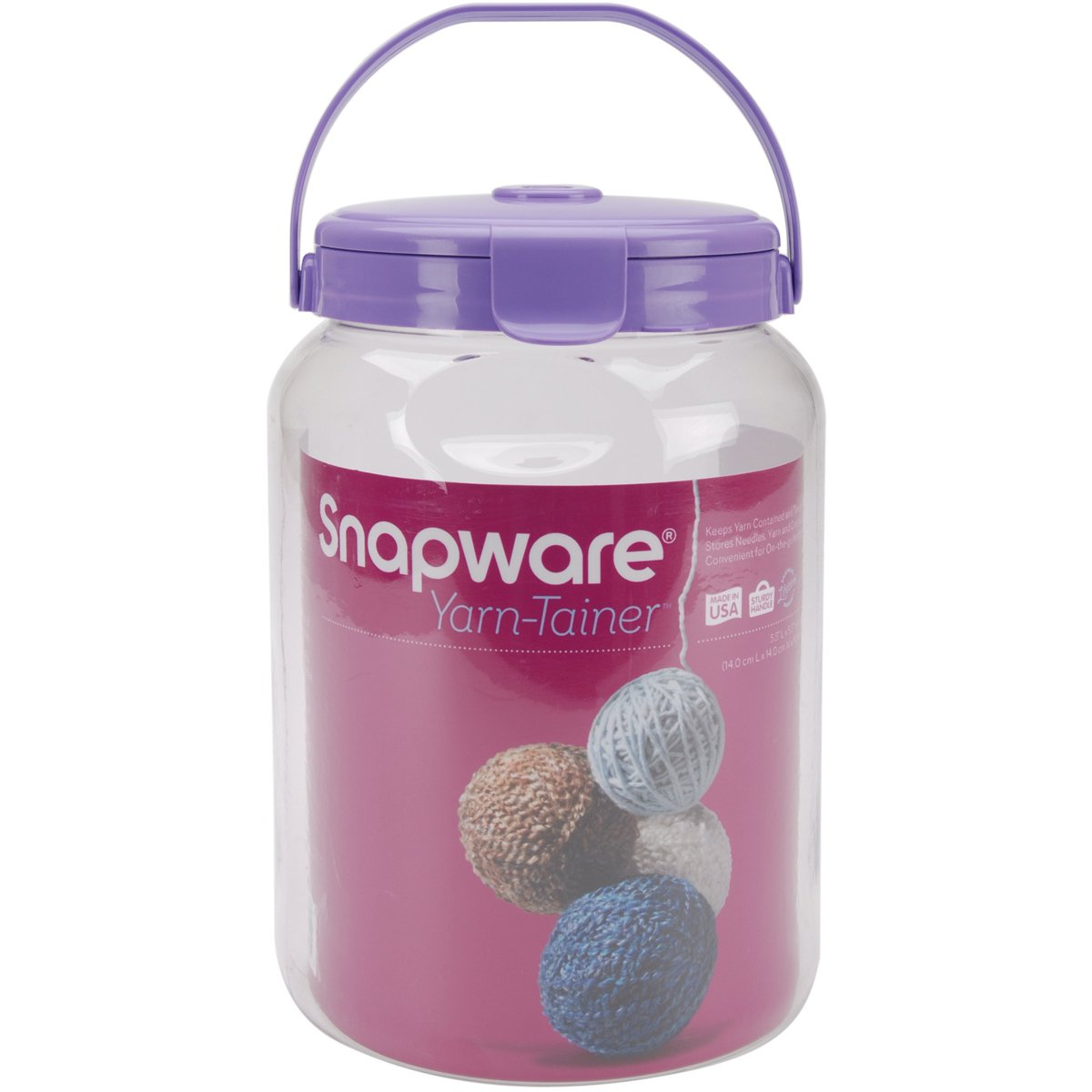 Snapware Yarn Tainer Small-8-Inchx5.5-Inch Clear 1098520