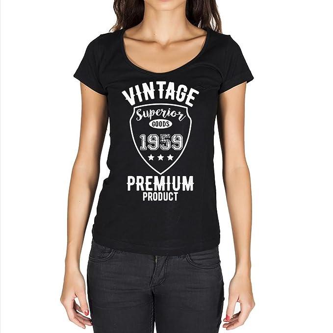 1959, Vintage Superior, camiseta mujer, camiseta años, camiseta para mujer: Amazon.es: Ropa y accesorios