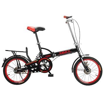 YEARLY Bicicleta plegable estudiante, Bicicleta plegable Hombres y mujeres Ligero Para niños Escuela Bikes plegables