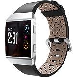 Sisit Bracelet en cuir perforé pour Fitbit Ionic