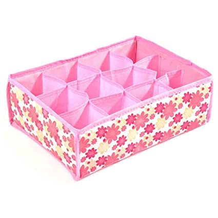 Organizador cajon ropa interior, calcetines y complementos color rosa orden en el armario de OPEN