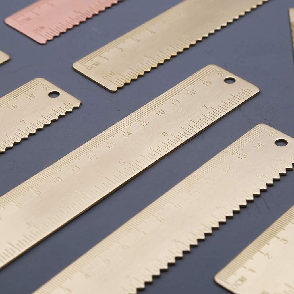 CARRYKT 18cm R/ègle en Laiton Marque-Page /Étiquette Marque-Page Cartographie Peinture Outil de Mesure