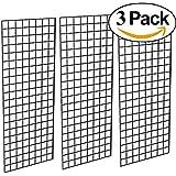 Only Hangers 1898b Panel Perfect Metal Retail Display, 2'x 5', 3 Grids Per Carton (Black)