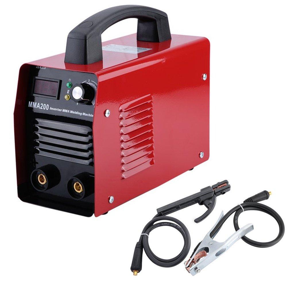 MMA200 200A 220V Inverter E-Hand Schweiß gerä t Elektroden MMA Elektrodenschweiß gerä t IGBT (Rot) Blackpoolal