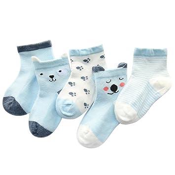 Shiningup Calcetines de niña bebé recién Nacido Unisex Lovely 5 ...