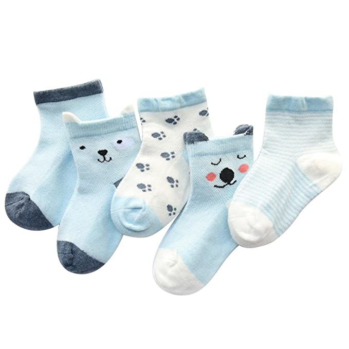 Candy Color Kids Cotton Socks Anti Slip Socks Infant Baby Girls Boys Soft Socks