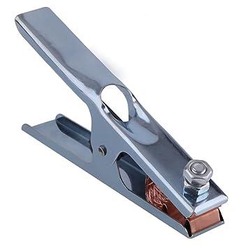 Manual de puesta a tierra 300A soldadura de soldadura por arco Tierra Cromado Cable Clip Mordaza de cobre de agarre: Amazon.es: Bricolaje y herramientas