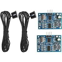 ZHITING 2 st mätgivare sensor ultraljud avståndsensor modul JSN-SR04T DC 5 V vattentät med 2,5 m kabel för Arduino