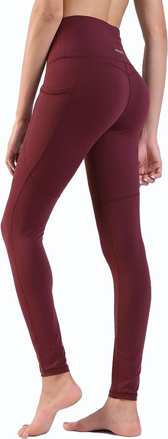 Ogeenier Pantalon-Fitness-Leggings Legging Sport Femme Taille Haute avec Poches Pantalon Yoga Longue
