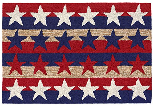 KensingtonRow Home Collection Area Rugs - Patriotic Stars and Stripes Rug - 30