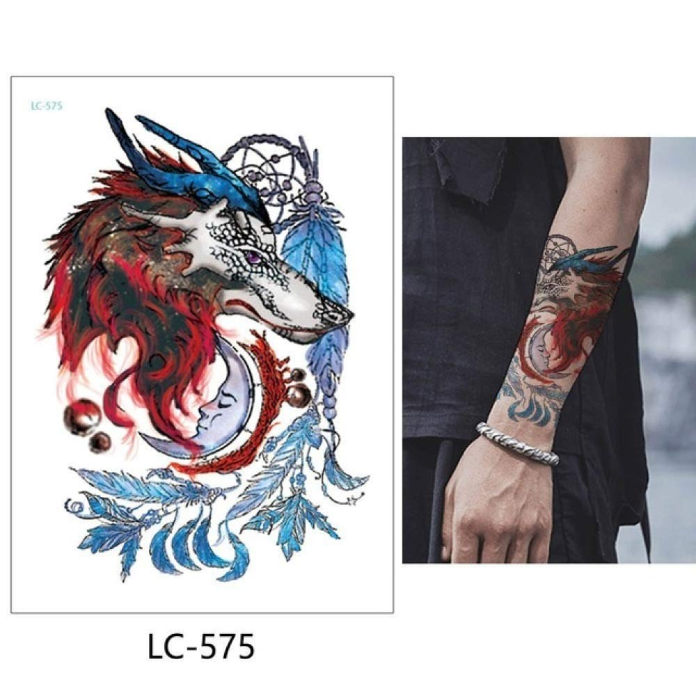 adgkitb Etiqueta engomada Temporal Impermeable del Tatuaje 3pcs ...