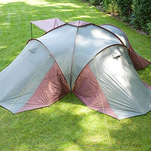 Skandika Daytona Family Camping Tent with 3 Sleeping Rooms and Sun Canopy Porch 6 Persons//2X-Large