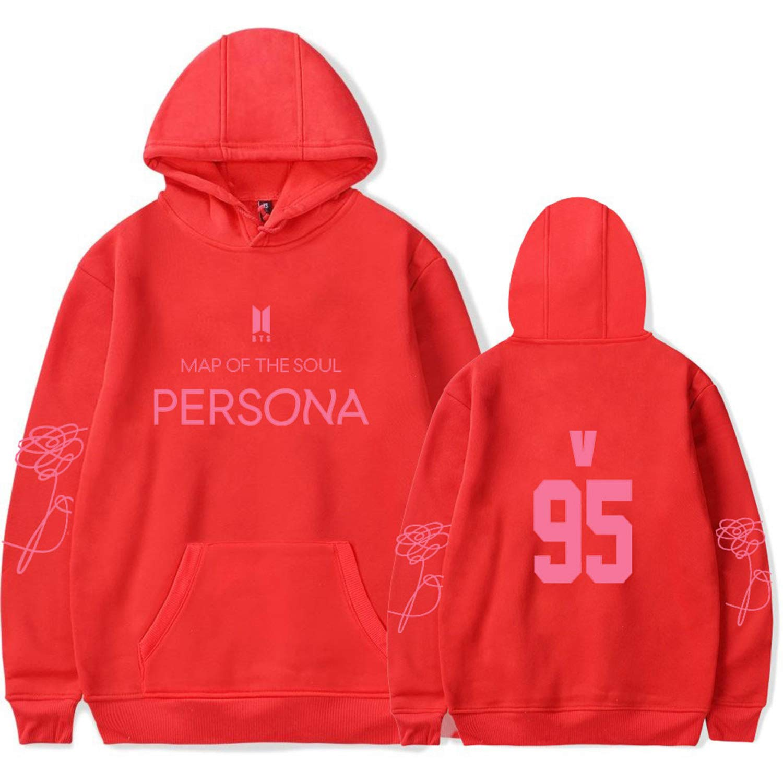 DHSPKN BTS Map of The Soul Persona Hoodie Jungkook Suga Jimin V Jacket Unisex Hooded Sweatshirt