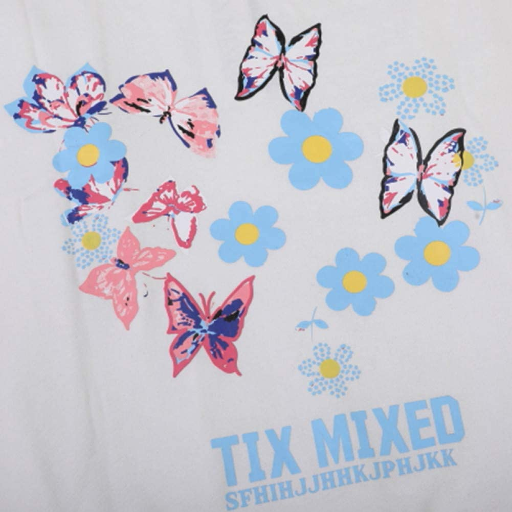 SONGHJ Streetwear Hoodie Sweatshirt Herren Hip Hop Bunte Schmetterling Blumendruck Pullover Baumwolle Fleece Herbst / Winter Pullover Xxl