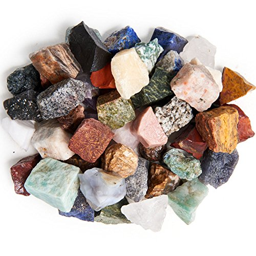 (Digging Dolls: 3 lbs Natural Asia and Middle East Rough Stone Mix - Made with Over 45 Types of Stones - Large Size - 1