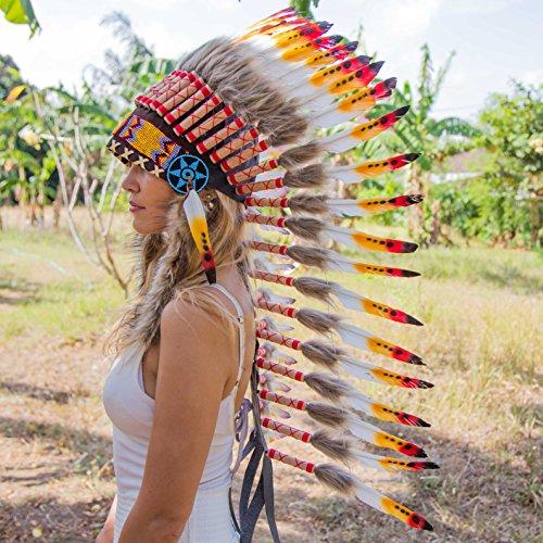 [Indian Style Headdress   Native American Style Headdress   Medium   Mixed] (Indian Headress)