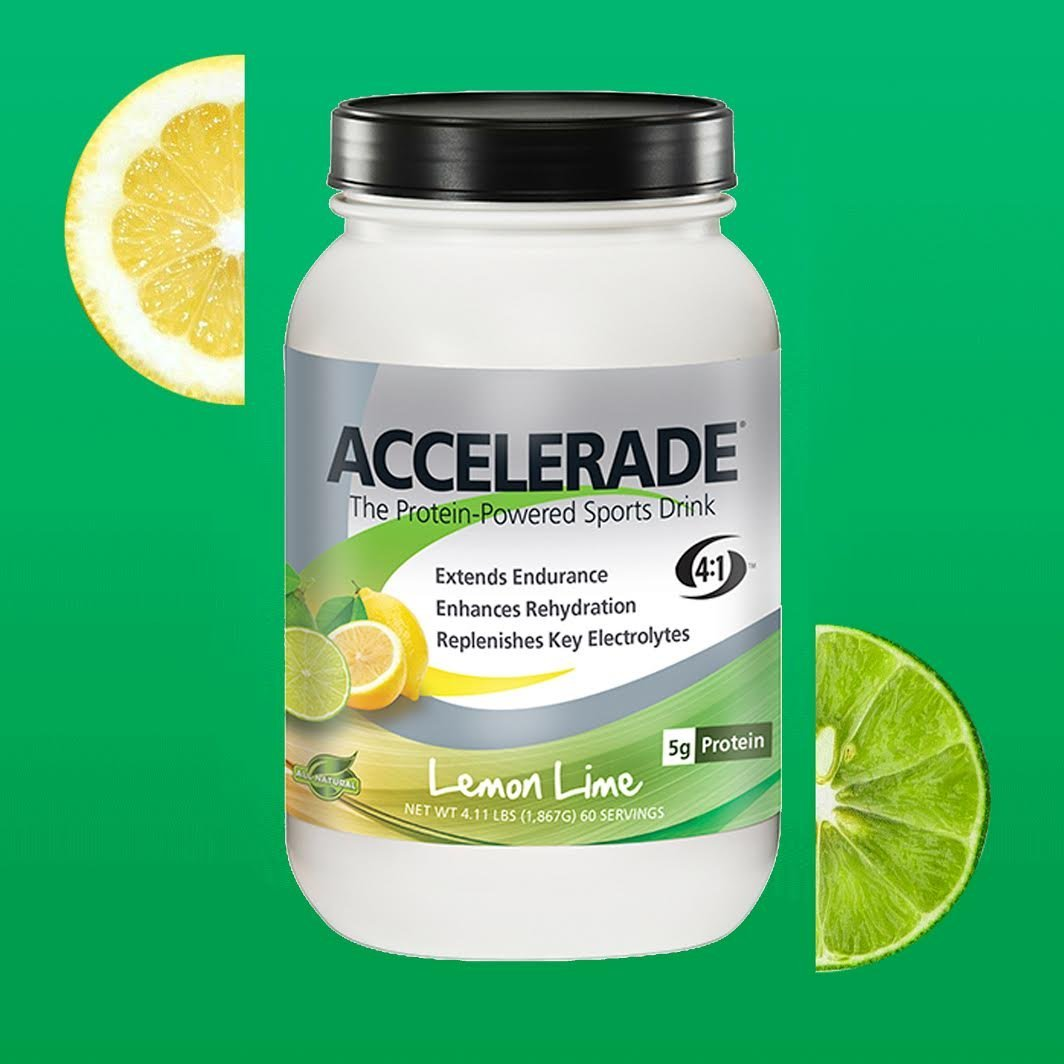 PacificHealth Accelerade, All Natural Sport Hydration Drink Mix, Net Wt. 4.11 lb., 60 serving (Lemon Lime)