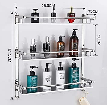 Estantes para ducha Estantería de baño con toallero, bañera ...