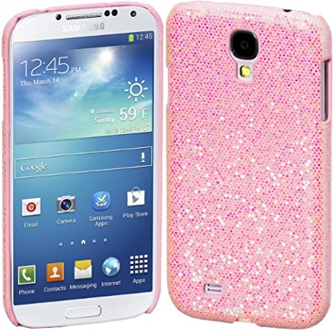 Cimo Bling Sparkle Hard Cover Back Case for Samsung Galaxy S4 mini S IV GS4 - Pink (Cell Phone Cases Galaxy S 4 Mini)