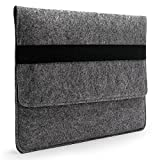 "Lavievert Handmade Gray Felt Case Bag Sleeve Protector with Black Elastic Band for Apple 13"" MacBook Air/ 13"" MacBook Pro / 13"" MacBook Pro with Retina"