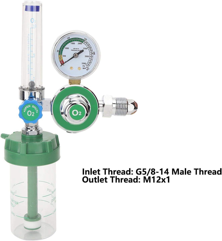 Jingyig Inhalateur doxyg/ène de Fil r/éducteur m/édical de Pression doxyg/ène Tube de Type bou/ée pour la m/édecine dh/ôpital