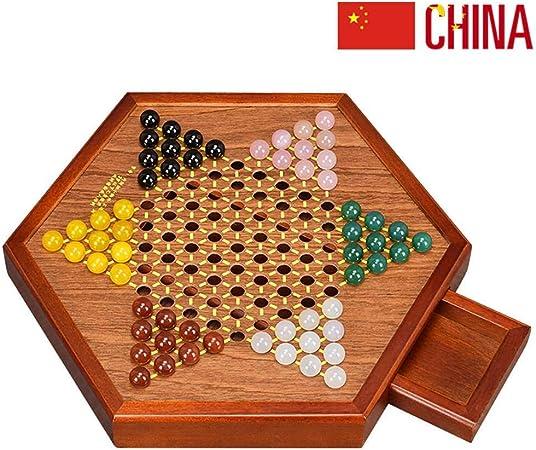 Las Damas Chinas con Canicas, Juego De Mesa De ágata, Piezas De Ajedrez, Incluyen 60 Canicas En 6 Colores para Juegos De Viaje Familiar A: Amazon.es: Hogar