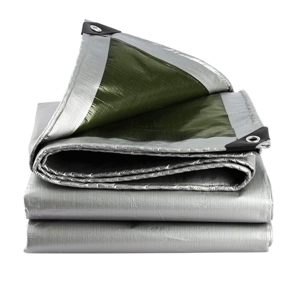 LI SHI JIE SHOP Silberne doppelseitige Wasserdichte Plane - Dachregenabdeckung des AutoStiefeles - Campinganhängerzelt - Silberne Starke Plane, Stärke 0.35 Millimeter, 180 g   m2 (Verschiedene Größen)