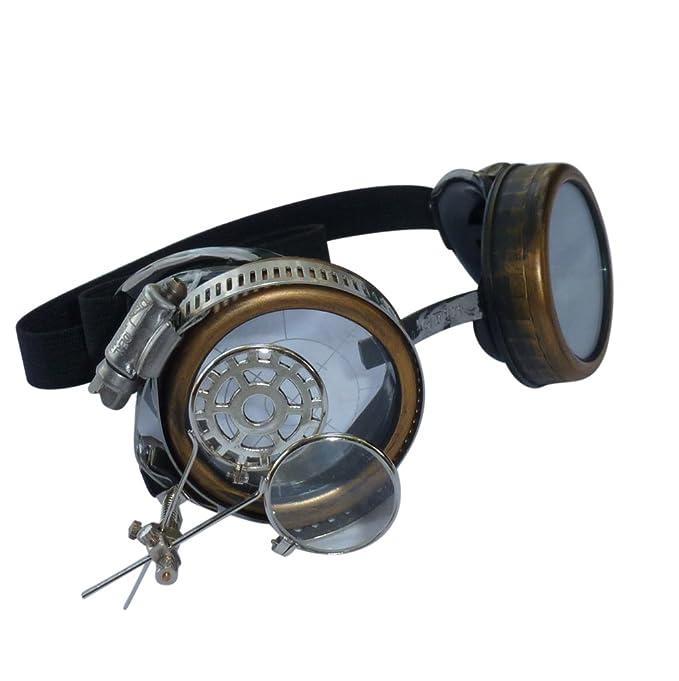 22605fab31 Steampunk Victorian Goggles welding Glasses diesel punk target