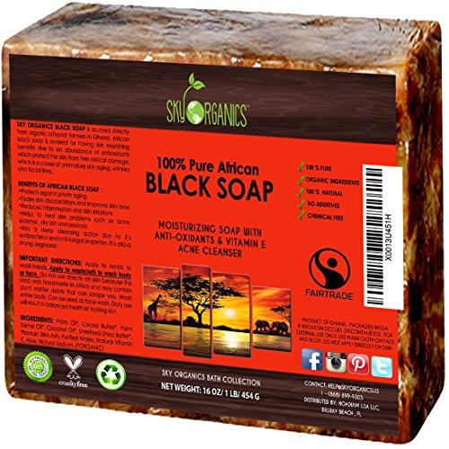 Organic African Black Soap 16oz Block Raw Organic Soap
