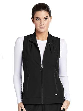da19a8cb0cd Amazon.com: Barco ONE 2-Pocket Mock Neck Zipper Vest for Women ...