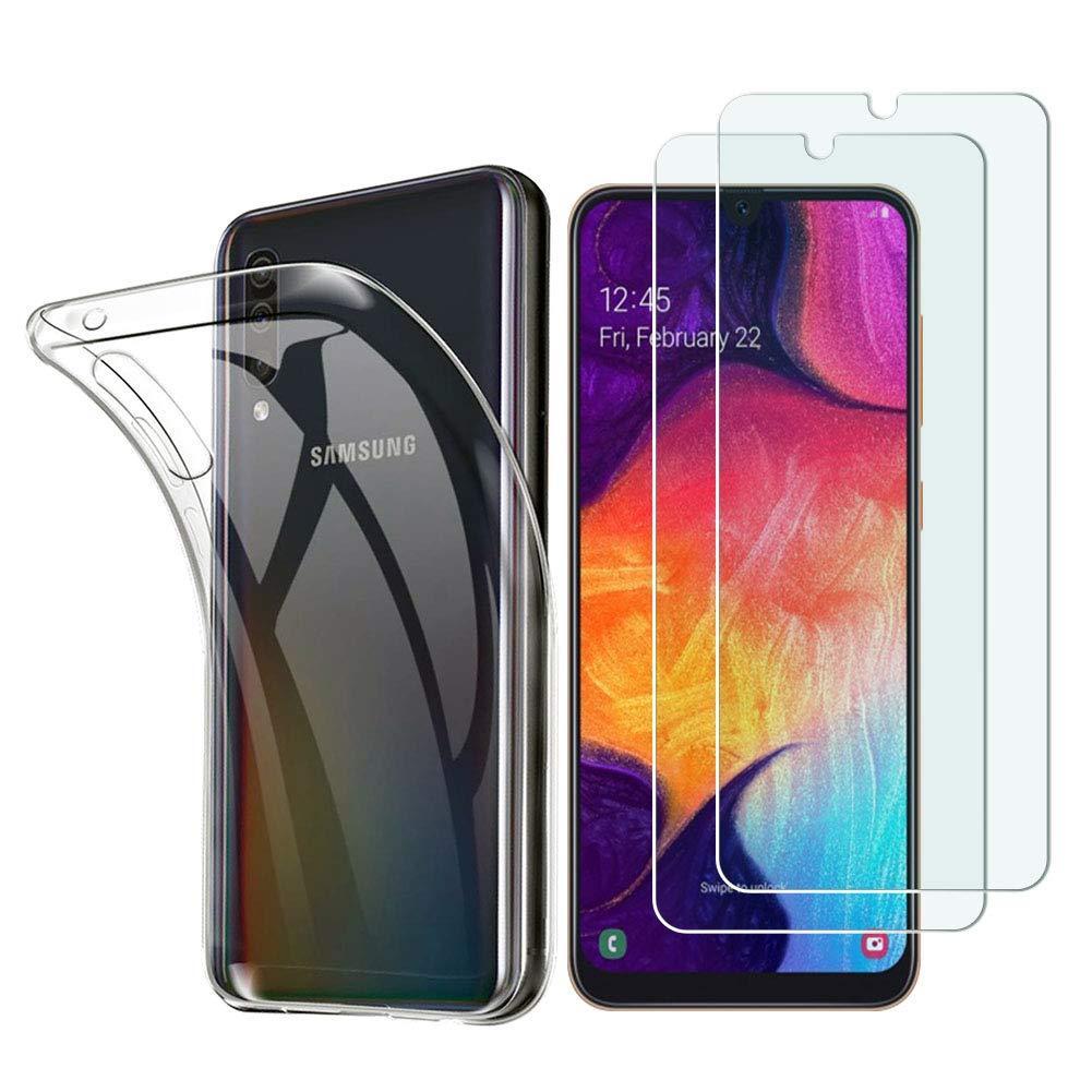 Funda + 2 Vidrios Templado para Samsung Galaxy A80 Katian