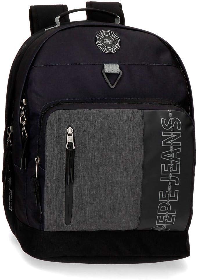 Mochila para portátil dos compartimentos adaptable Pepe Jeans Ason