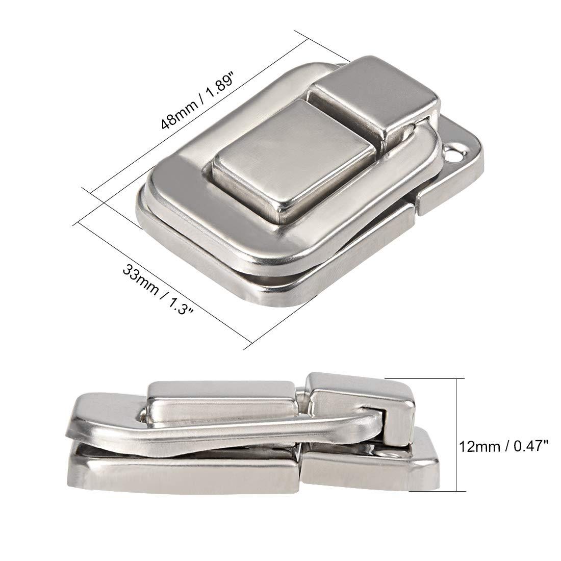 48mm dekorative Haspe Schmuckschatulle mit Schrauben DE sourcing map 5 StkToggle Verriegeln