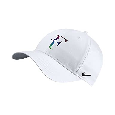 fbad50a9596 Nike Men s Roger Federer RF Iridescent Pro Hat White Flint Grey 835536-010