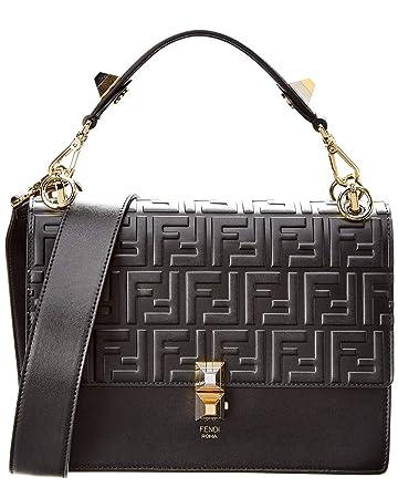 f77874d08353 Amazon.com  Fendi Women s Kan I Leather Shoulder Bag Black