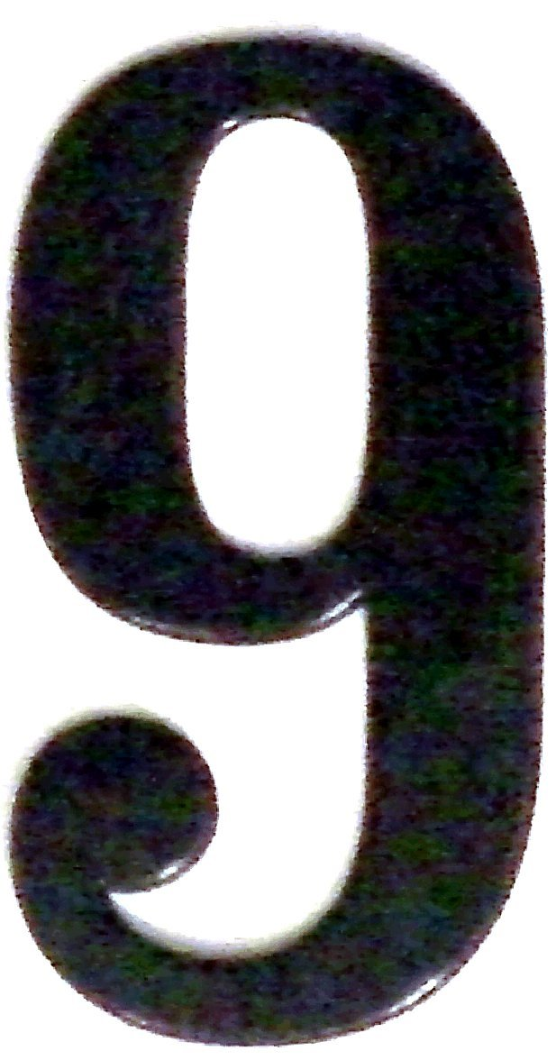 Fancy Black Reflective Mailbox or House Number - 2 - Size 3' - (select size (2'- 6') and digit (0-9) below) - Thick, Die-cut Exterior Grade Gasket-like PVC - not Metal or Rigid Plastic Numbersandletters Inc.