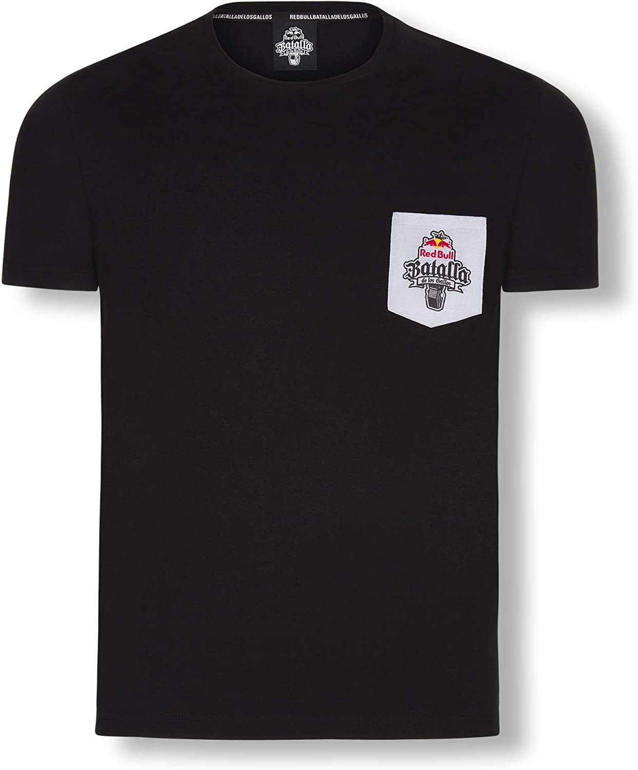 Red Bull Batalla Pocket Camiseta, Negro Hombre Small Top, Batalla ...