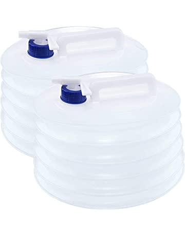 2x 10l Agua Portador Contenedor plegable apilable con grifo acampada Botella