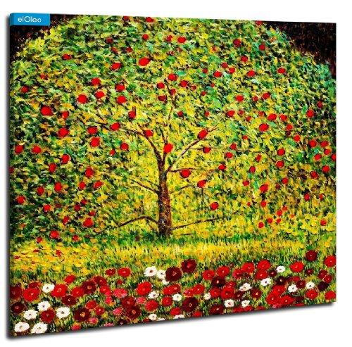 Gustav Klimt - Der Apfelbaum Peinture à l'huile - 120x120 - pintura al óleo Lienzo tensado sobre bastidor