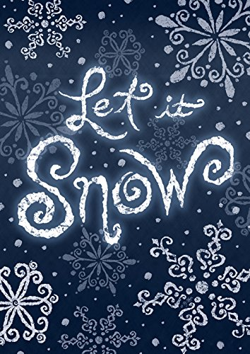 - Toland Home Garden Let It Snow 28 x 40 Inch Decorative Winter Snowflake Double Sided House Flag